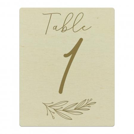 Numéro de table mariage en bois collection mariage Verlaine.
