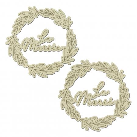 Décors de chaise couronne mariage Le marié et La Mariée collection Verlaine