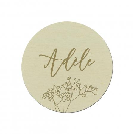 Marque place feuilles personnalisé en bois collection mariage Garance.