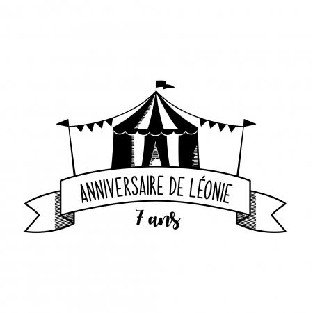 Tampon personnalisé anniversaire Chapiteau de Cirque