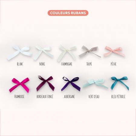 Choix de la couleur des rubans